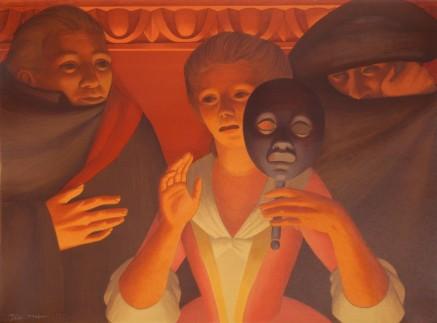 George C. Tooker 1920 2011 Un ballo en MAschera 1983 litografia ROgallery