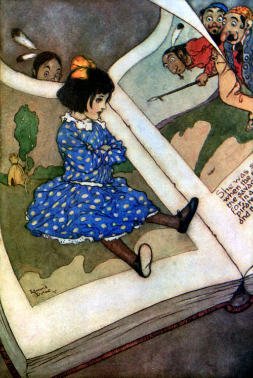Illustrazione -little-girl-in-a-book-illustration-to-fairies-i-have-met